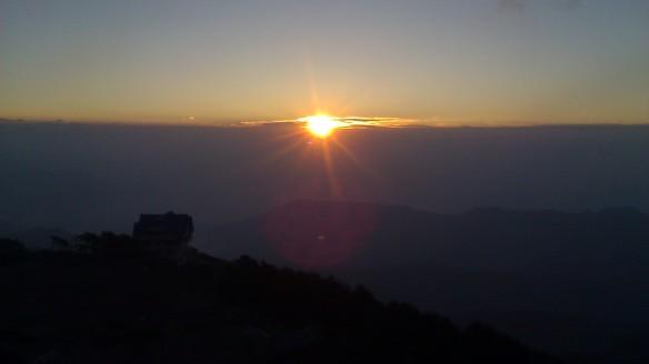 Sunrise at the peak...